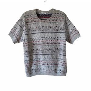 Northern Reflections Grey Pullover Sweater Large